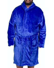 Bigdude Plain Fleece Dressing Gown Royal Blue