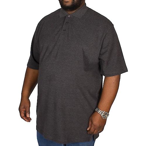 Bigdude Plain Polo Shirt- Charcoal