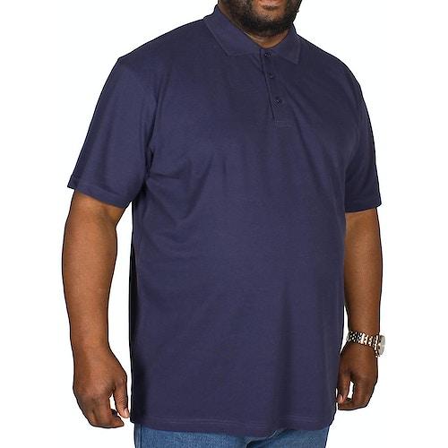 Bigdude Plain Polo Shirt- Navy