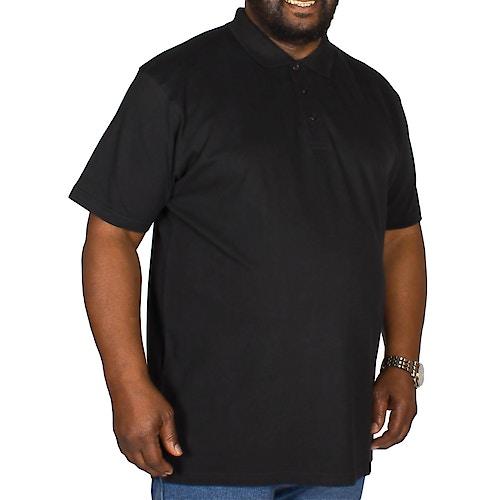 Bigdude Plain Polo Shirt - Black