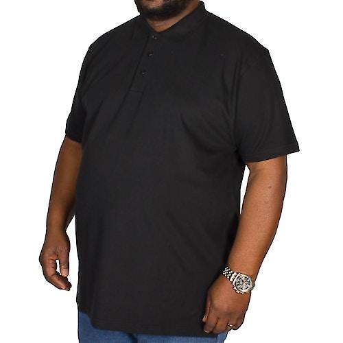 Bigdude Poloshirt Schwarz Tall Fit