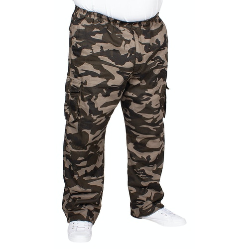 Espionage Elasticated Waist Cargo Trousers Camo