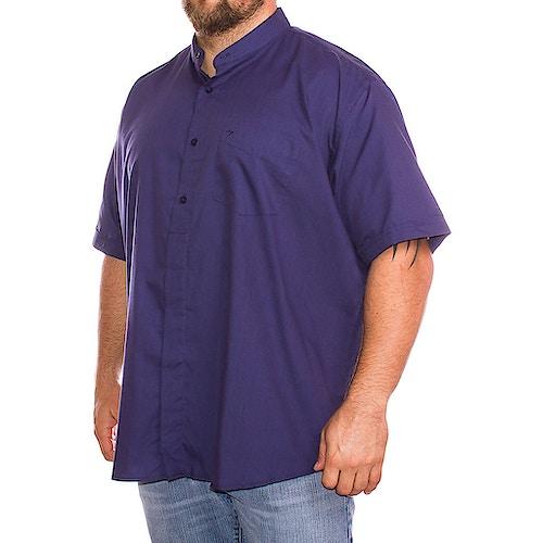 Cotton Valley Short Sleeve Plain Grandad Shirt