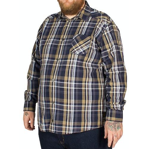 Replika Long Sleeve Checked Shirt Green