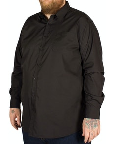 D555 Corbin Long Sleeve Classic Shirt Black