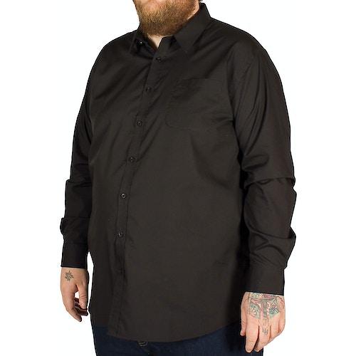 D555 Corbin Long Sleeve Classic Shirt Black