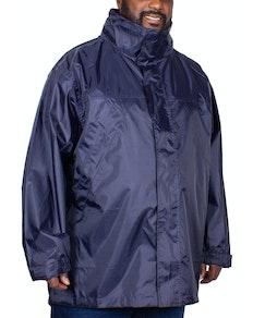 Bigdude Waterproof Packaway Rain Jacket Navy