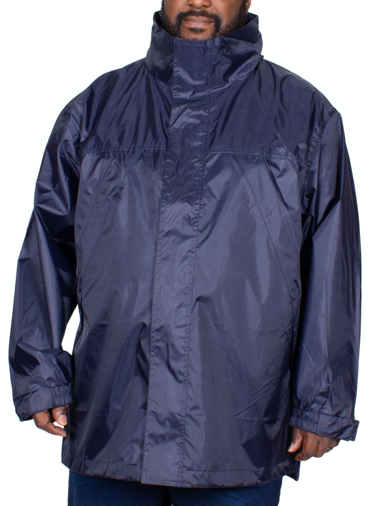 Kam Wasserfest Und Atmungsaktiv Leicht Regenjacke Größen 2XL-8XL,2 Farben