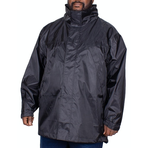 Bigdude Waterproof Packaway Rain Jacket Black