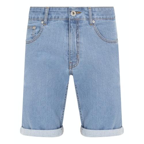 Bigdude Stretch Denim Shorts Light Wash