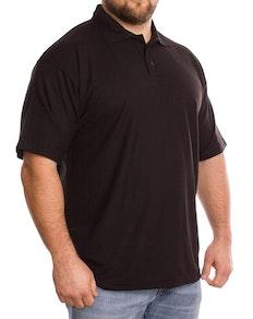 Einfarbig Schwarzes Polohemd