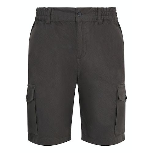 Bigdude Elasticated Waist Cargo Shorts Charcoal
