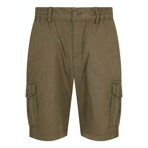 Bigdude Cargo Shorts mit elastischem Bund Khaki