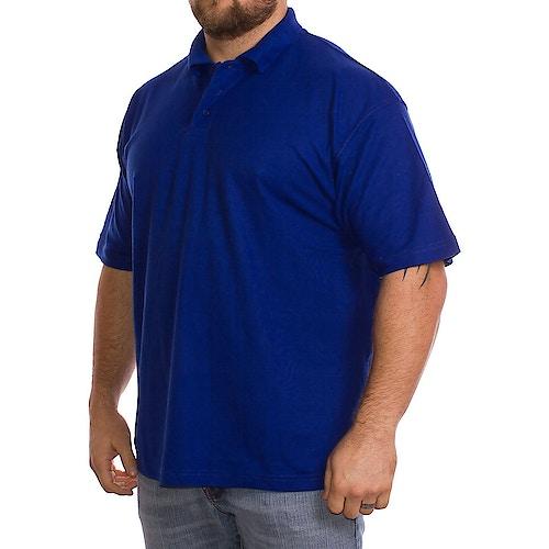 Einfarbig Königblaues Polo-Hemd