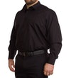 Schwarzes Langarmhemd