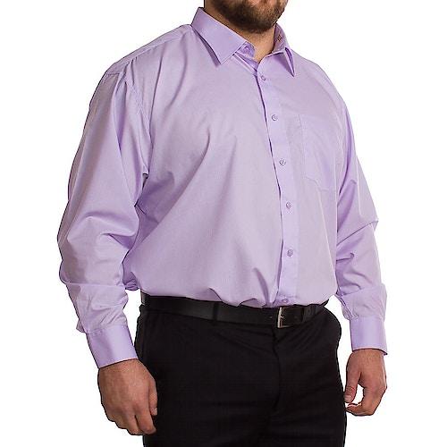 Rael Brook Fliederfarbenes Langarmhemd
