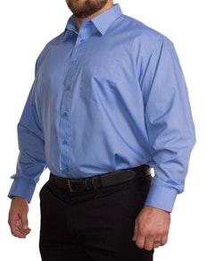 Rael Brook Einfarbig Blaues Langarmhemd