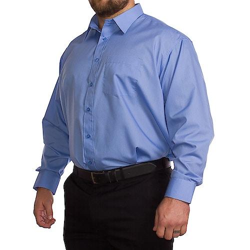 Rael Brook Plain Blue Long Sleeve Shirt