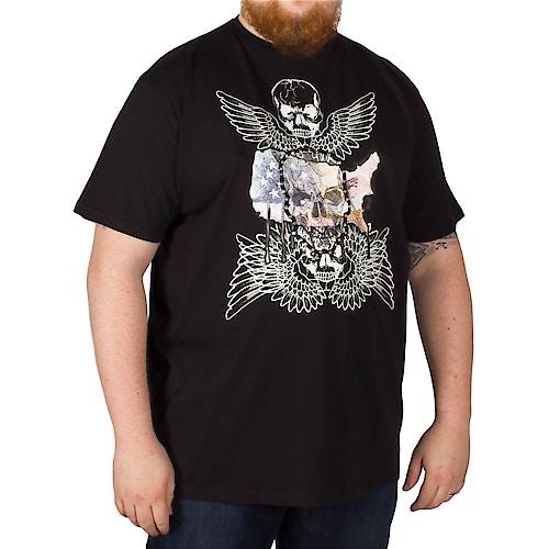 Metaphor Skull Wings Print T-Shirt