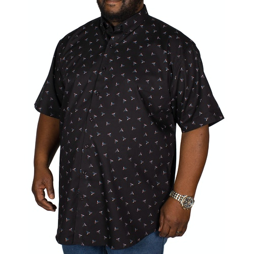 Espionage Kingfisher Print Shirt Black