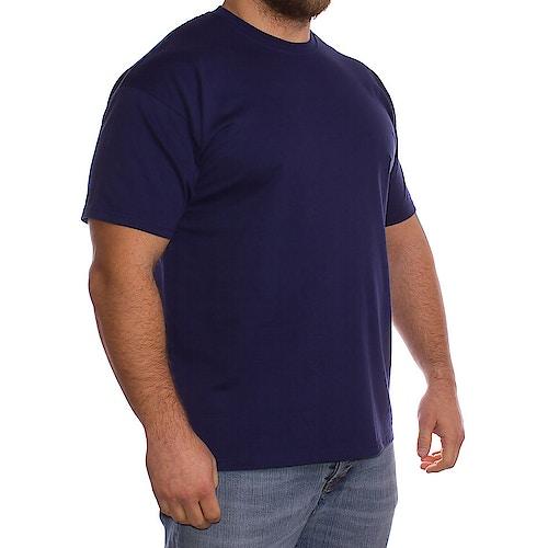 Fruit Of The Loom Einfarbig Marineblaues T-Shirt