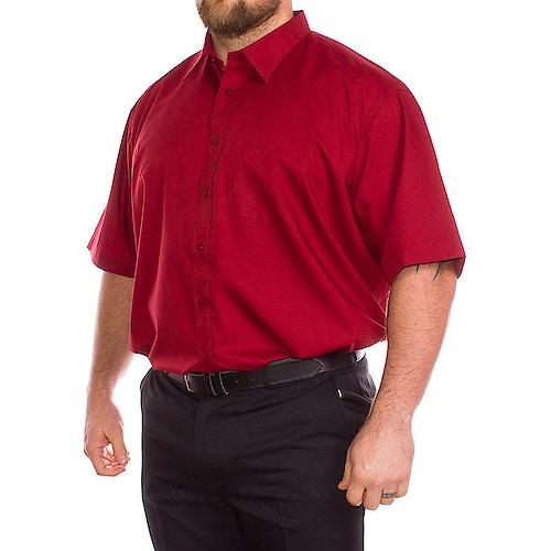 Rael Brook Rotes Kurzarmhemd