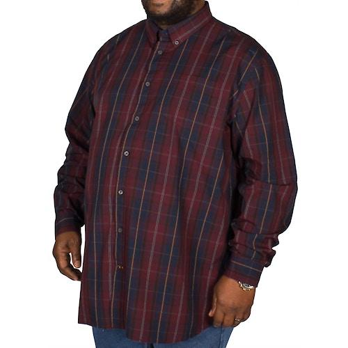 D555 Grady Check Shirt Navy/Wine