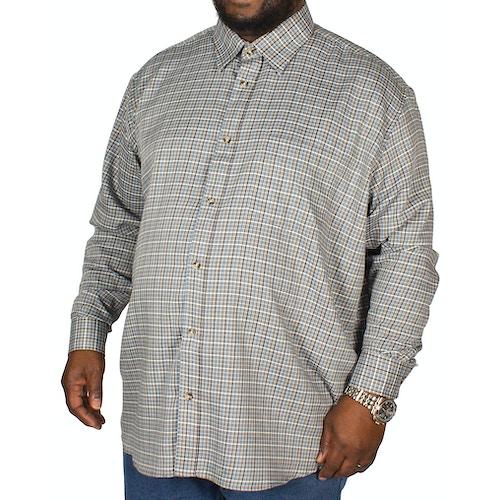 Cotton Valley County Check Long Sleeve Shirt Grey