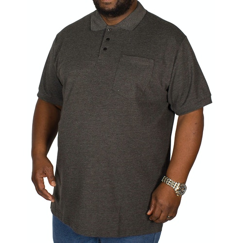 Bigdude Polo Shirt With Pocket Charcoal Tall