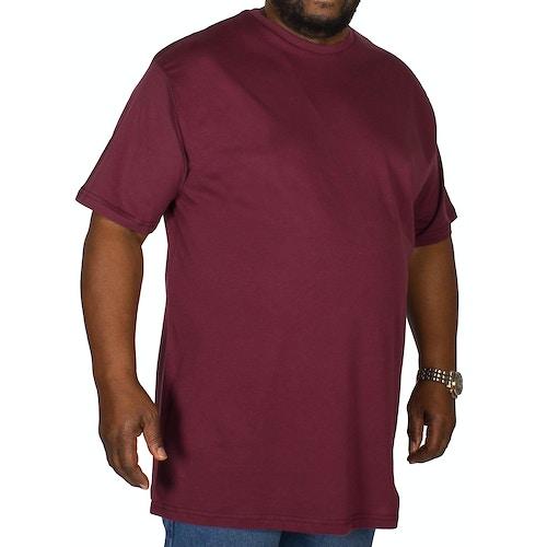 Bigdude Plain Crew Neck T-Shirt Burgundy