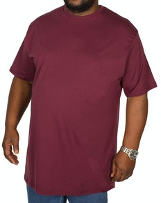 Bigdude Plain Crew Neck T-Shirt Burgundy Tall