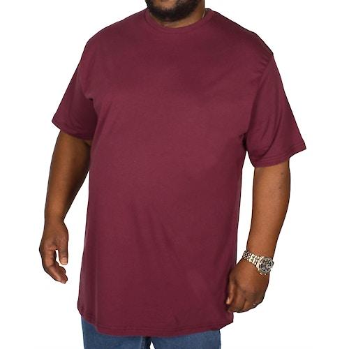 Bigdude Plain Crew Neck T-Shirt Burgundy Tall