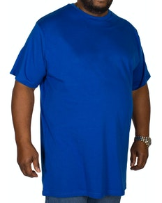 Bigdude Plain Crew Neck T-Shirt Royal Blue