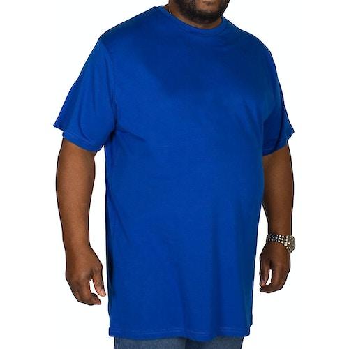 Bigdude Plain Crew Neck T-Shirt Royal Blue