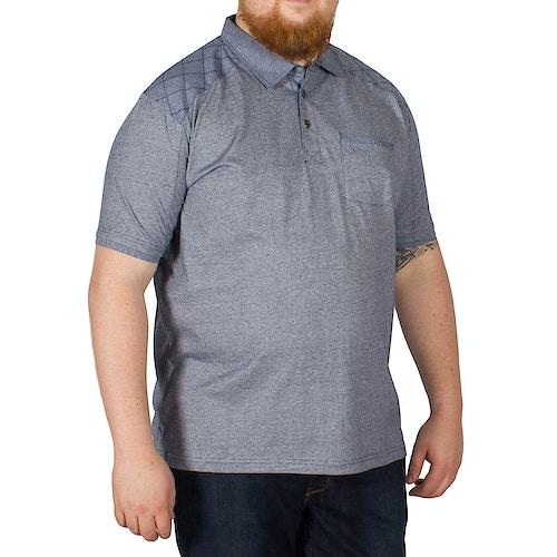 KAM Jeans Mini Stripe Polo Blue