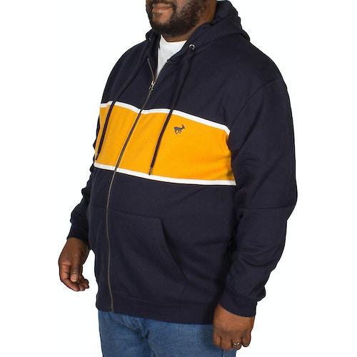 Bigdude Stripe Hoody Navy/Yellow