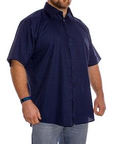 Espionage klassisches Kurzarmhemd Blau