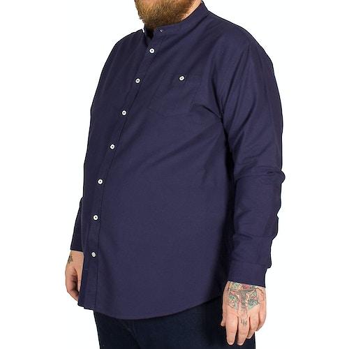 D555 Bernard Grandad Collar Shirt Navy