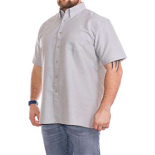 KAM Short Sleeve Oxford Shirt Grey