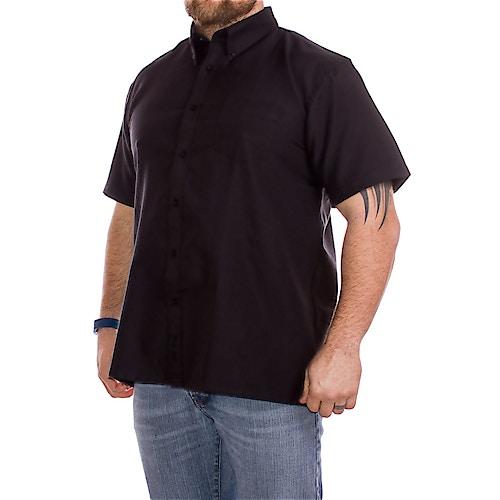 KAM Short Sleeve Oxford Shirt Black