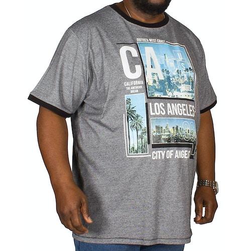 D555 T-Shirt Los Angeles Print Grau