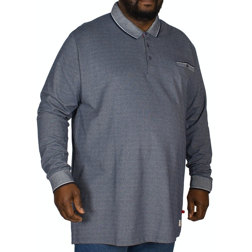 D555 Chigbo Melange Polo Shirt Navy