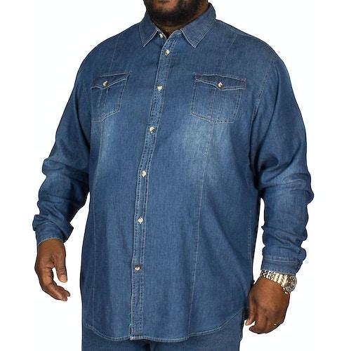 D555 Adcock Denim Shirt Blue