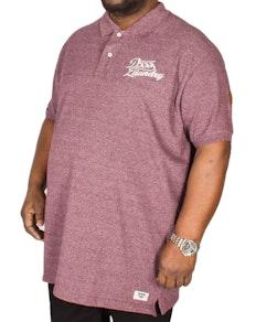 D555 Graham Embroidered Polo Shirt Brick Tall