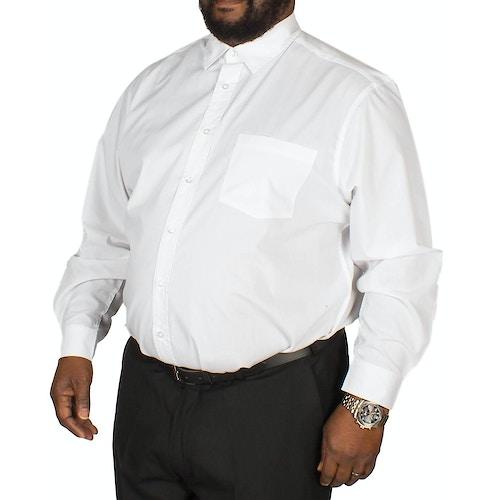 Bigdude Long Sleeve Poplin Shirt White