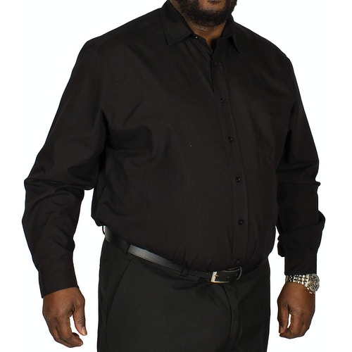Bigdude Long Sleeve Poplin Shirt Black