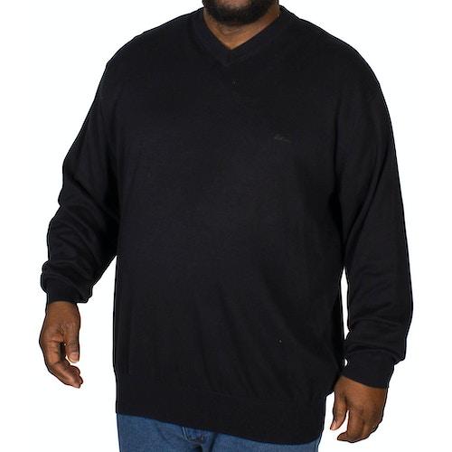 KAM V-Neck Long Sleeve Knitted Jumper Navy