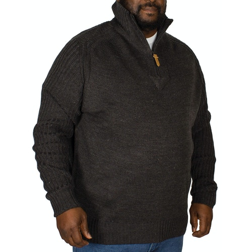 D555 Vito Half Zip Sweater Charcoal