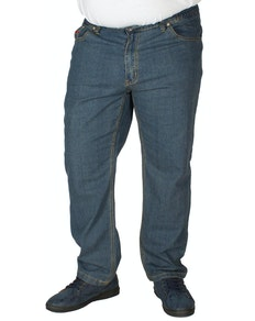 Duke elastische Taillen-Stretch-Denim-Jeans