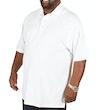 einfarbiges Poloshirt Weiß